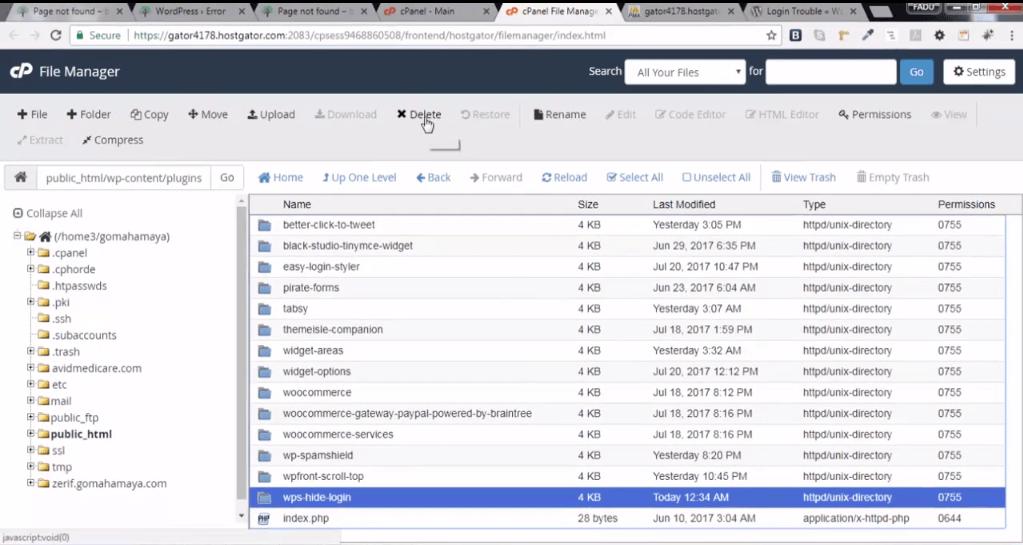 File manager plugins wp hide login delete plugin