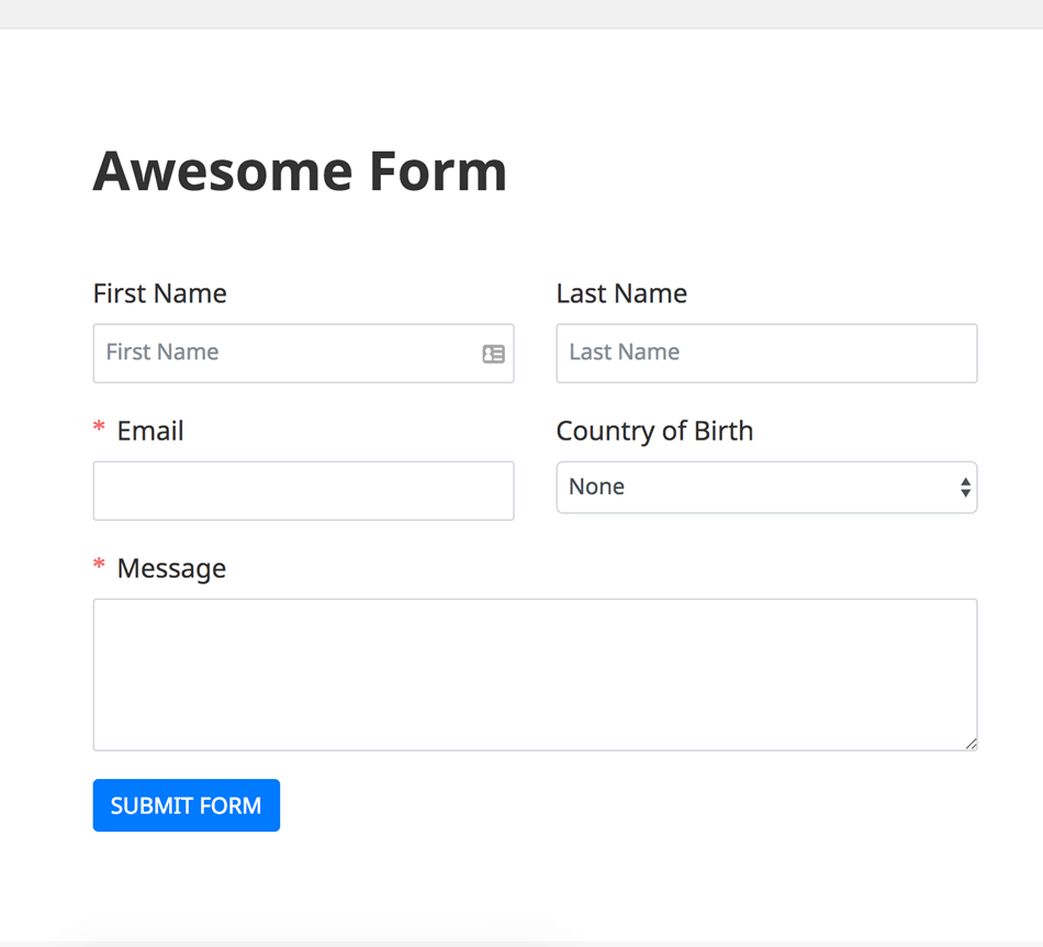 Fluent form contact form plugin form preview fastest contact form builder