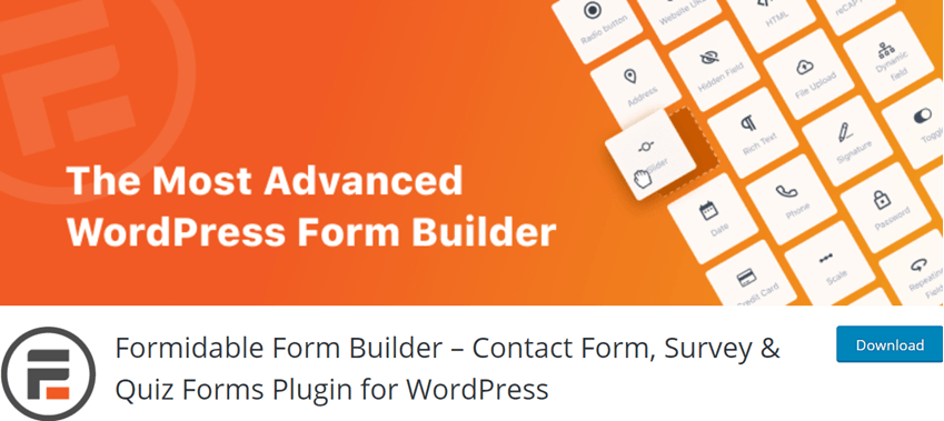 Formidable Form Builder – Contact Form, Survey & Quiz Forms Plugin for WordPress