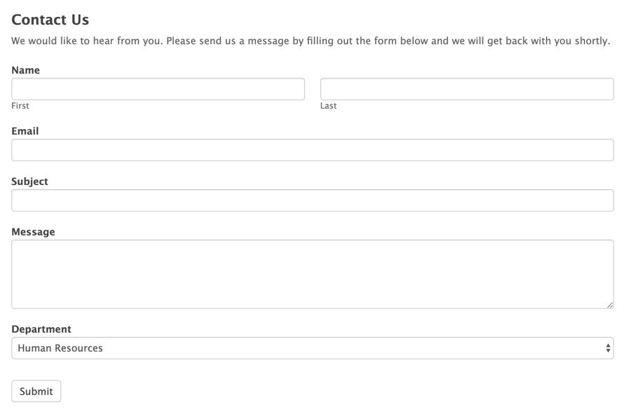 Formidable form builder contact form surveys and quiz form