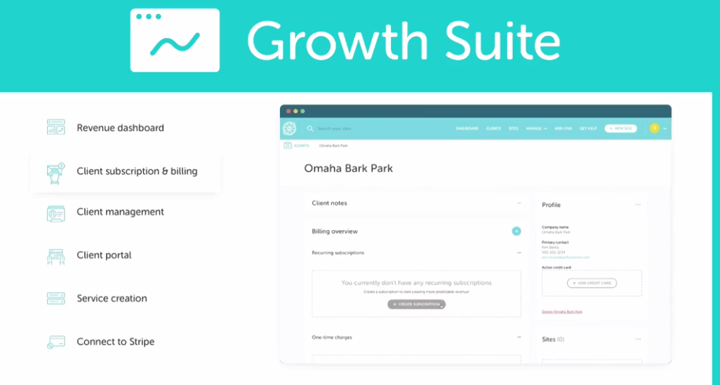 Growth suit dashboard