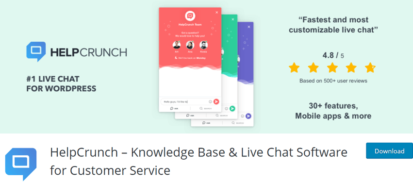 HelpCrunch – Knowledge Base & Live Chat Software for Customer Service
