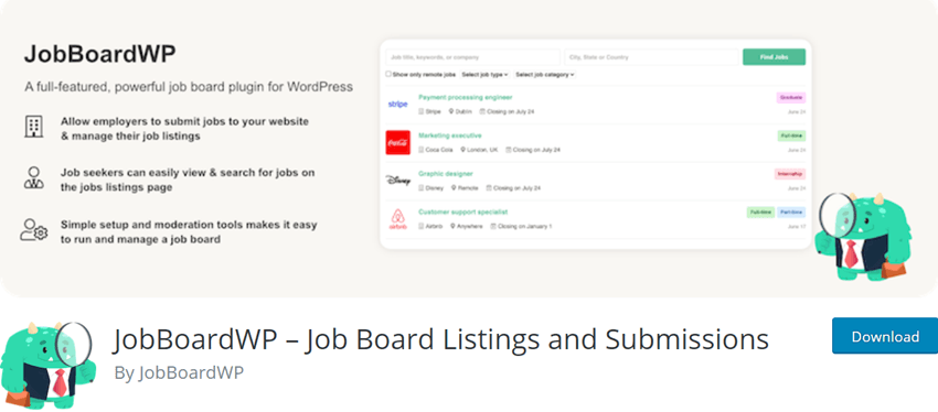 JobBoardWP – Job Board Listings and Submissions