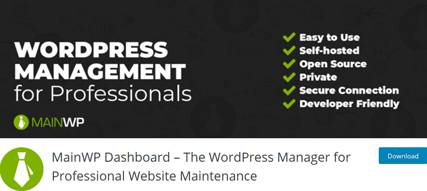 MainWP Dashboard – The WordPress Manager for Professional Website Maintenance