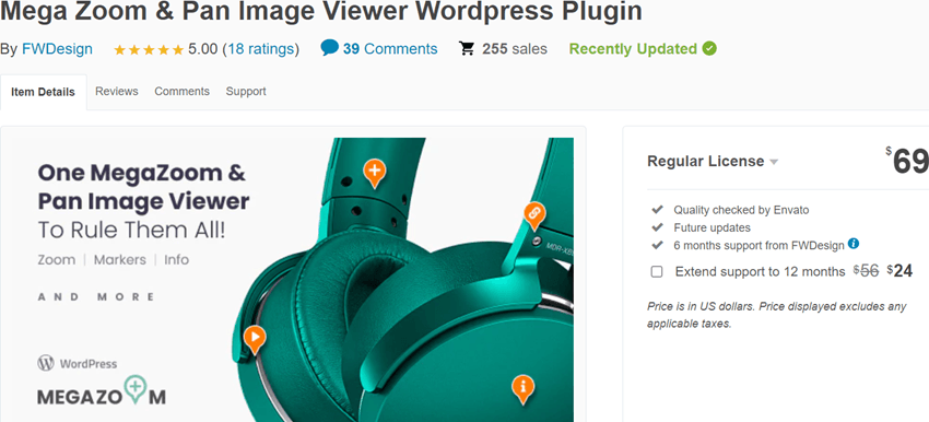 Mega Zoom & Pan Image Viewer WordPress Plugin