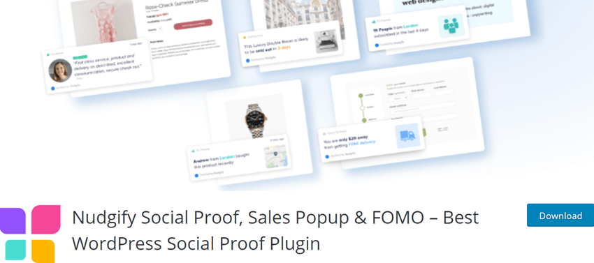 Nudgify Social Proof, Sales Popup & FOMO – Best WordPress Social Proof Plugin