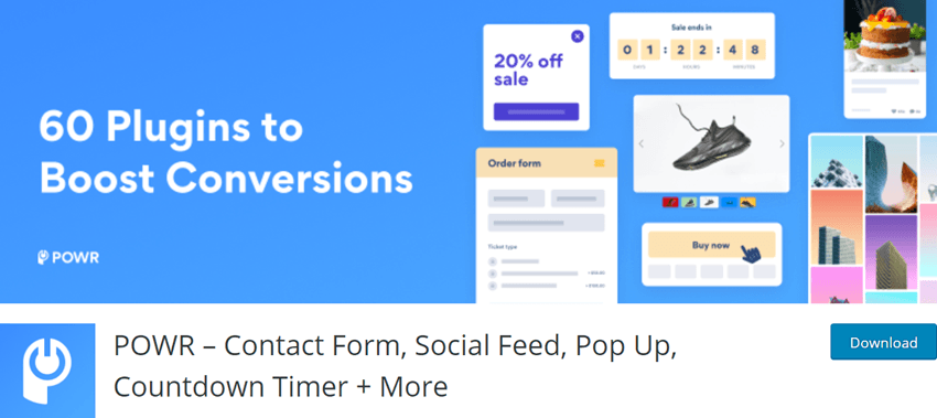 POWR – Contact Form, Social Feed, Pop Up, Countdown Timer + More
