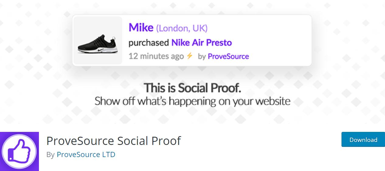 ProveSource Social Proof