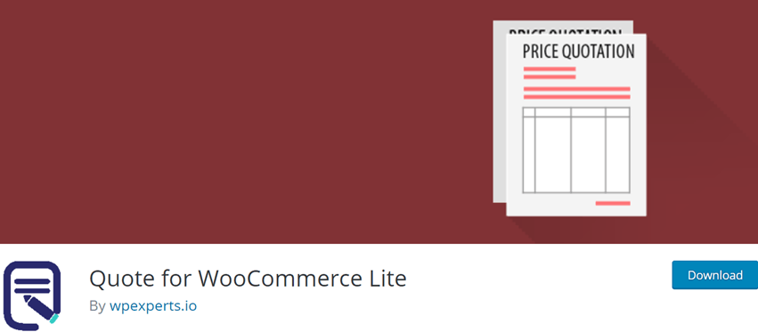 Quote for WooCommerce Lite
