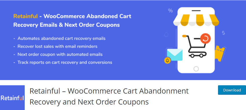 Retainful – WooCommerce Cart Abandonment Recovery and Next Order Coupons