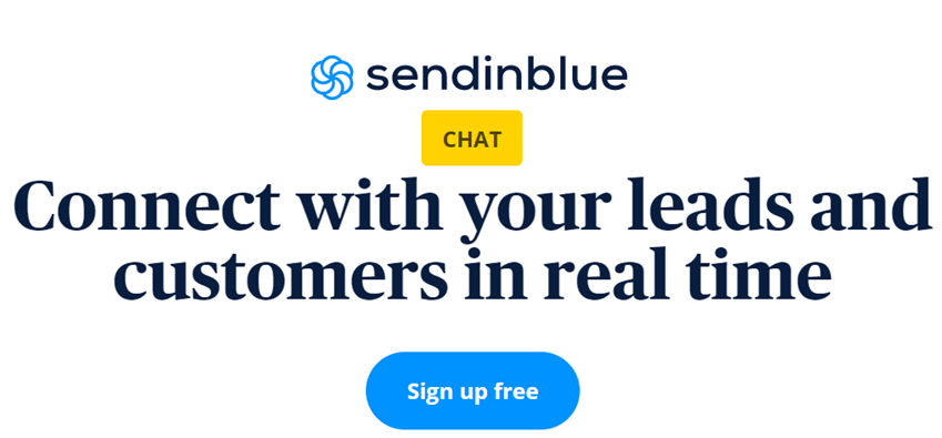 Sendinblue Connect with your leads and customers in real time