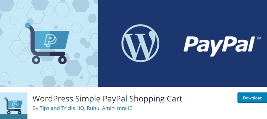Simple PayPal Shopping Cart For WordPress