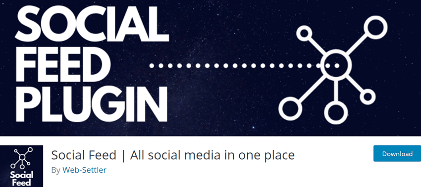 Social Feed All social media in one place