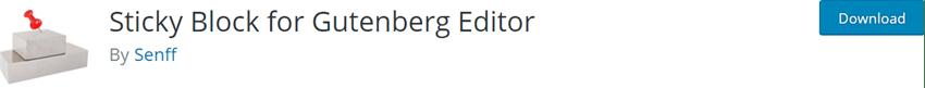 Sticky Block for Gutenberg Editor