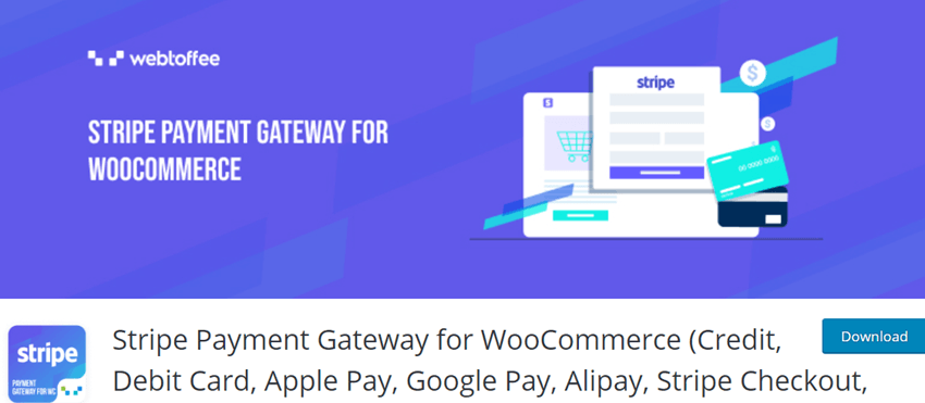 Stripe Payment Gateway for WooCommerce (Credit, Debit Card, Apple Pay, Google Pay, Alipay, Stripe Checkout, SEPA)
