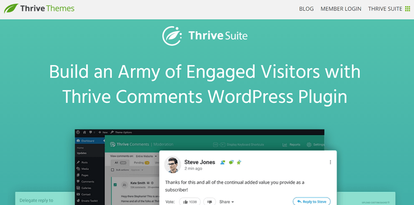 Thrive Suite - Build an Army of Engaged Visitors with Thrive Comments WordPress Plugin