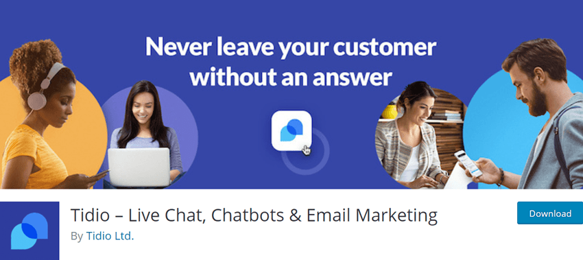 Tidio – Live Chat, Chatbots & Email Marketing