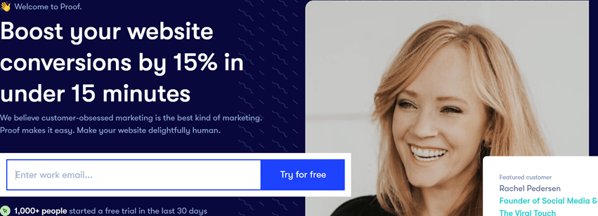 UseProof-Boost your website conversions by 15% in under 15 minutes