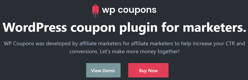 WP Coupons WordPress coupon plugin for marketers