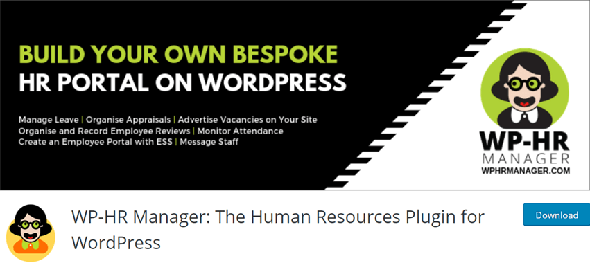 WP-HR Manager The Human Resources Plugin for WordPress