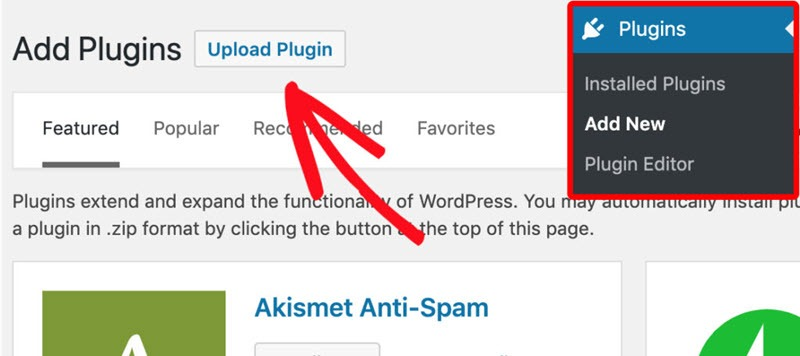WP Mail SMTP Add new upload plugins