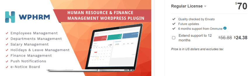 WPHRM - Human Resource and Finance Management WordPress Plugin