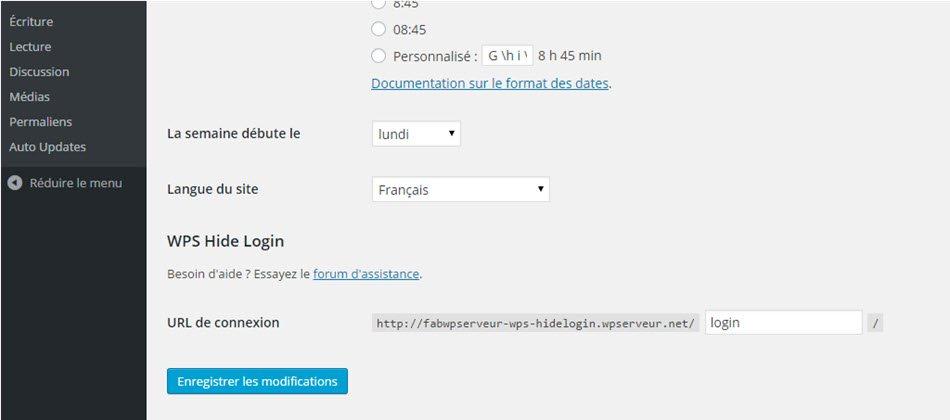 WPS hide login settings on single site installation
