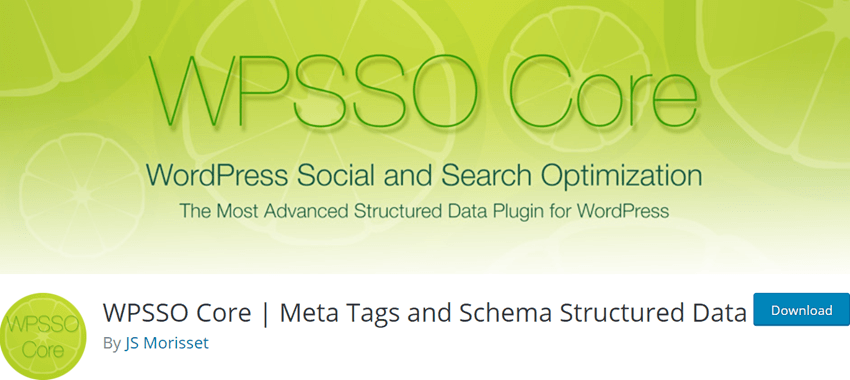 WPSSO Core - Meta Tags and Schema Structured Data