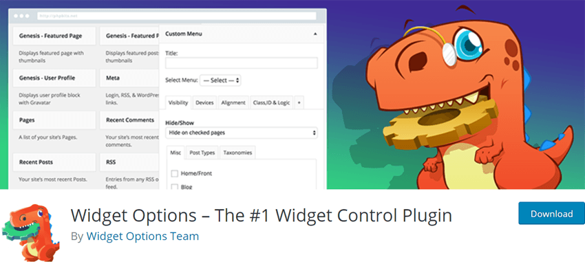 Widget Options – The #1 Widget Control Plugin