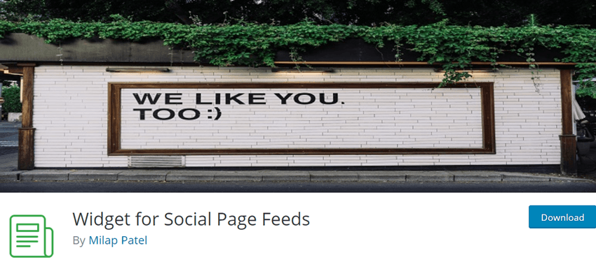 Widget for Social Page Feed