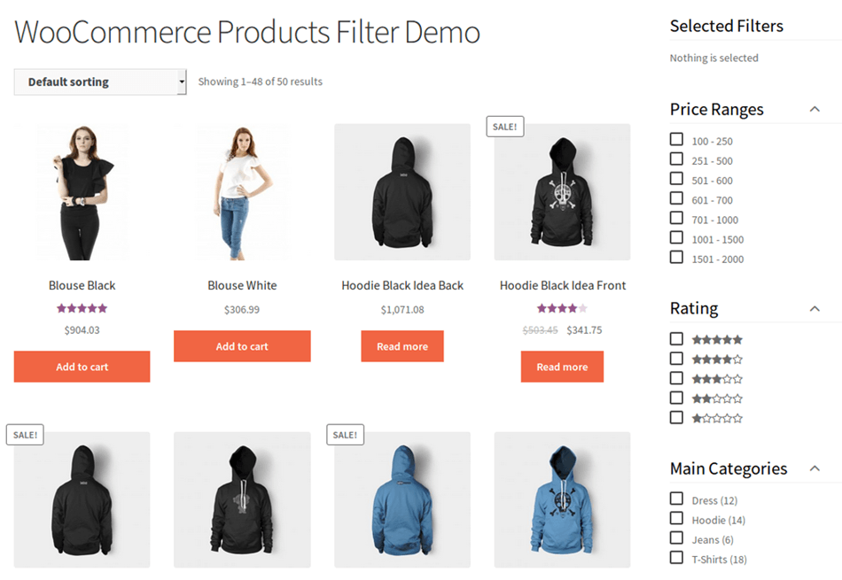 WooCommerce Product Filter Demo