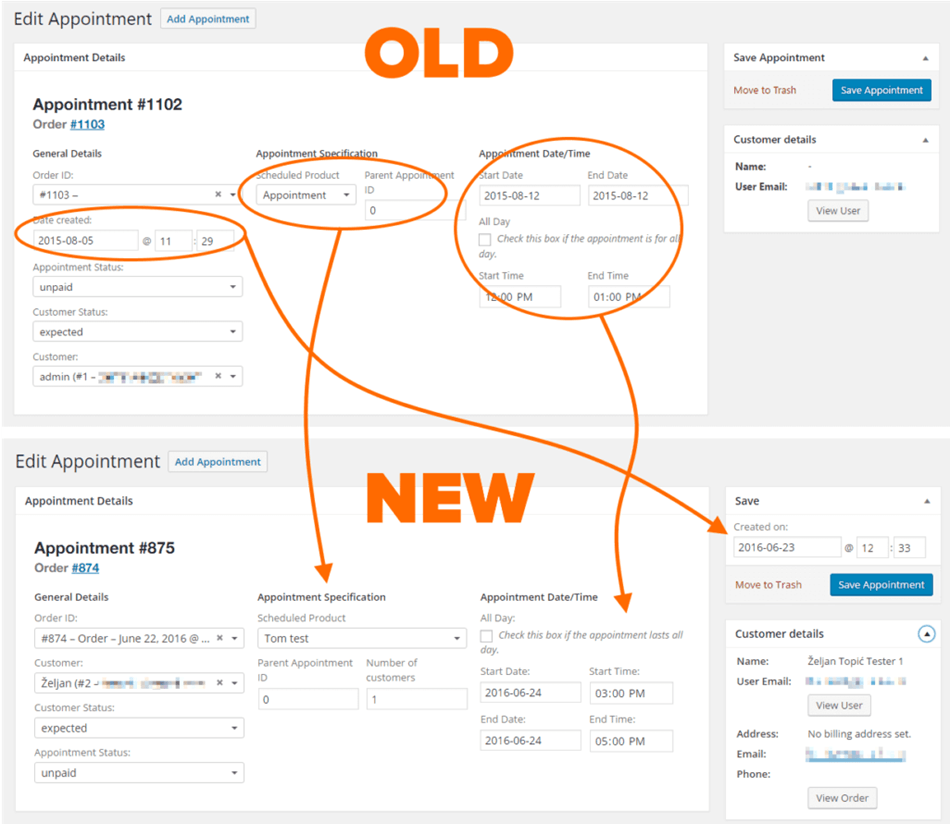 Woocommerce point of sale Integration with appointments bu=y bizzthemes update appointments