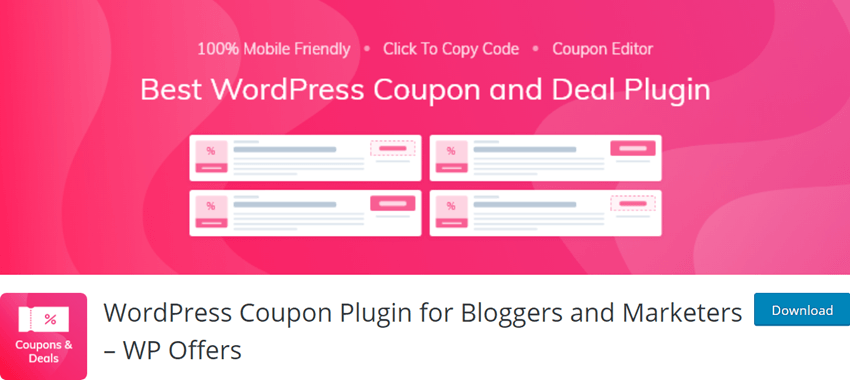 WordPress Coupon Plugin for Bloggers and Marketers – WP Offers