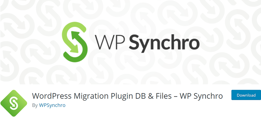 WordPress Migration Plugin DB & Files – WP Synchro