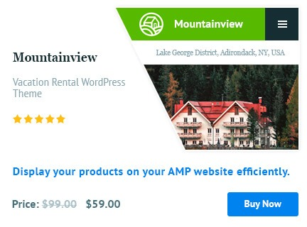 Wordpress AMP Plugin by motopress optimized for woocommerce stores