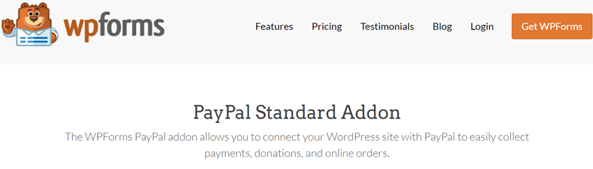 WpForms - PayPal Standard Addon