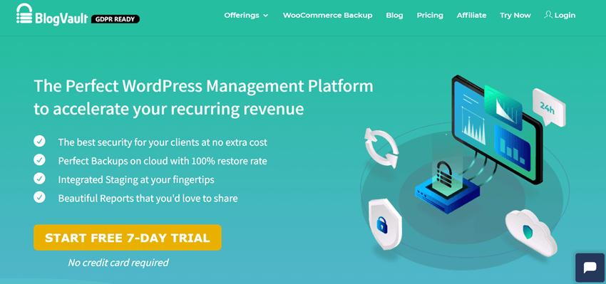 blogvault wordpress management