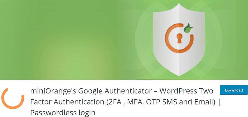 miniOrange's Google Authenticator – WordPress Two Factor Authentication (2FA , MFA, OTP SMS and Email) Passwordless login
