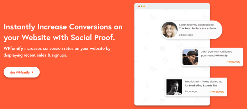 wpfomify - Instantly Increase Conversions on your Website with Social Proof