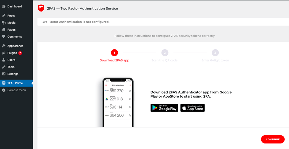 2FAS - Two Factor Authentication Service