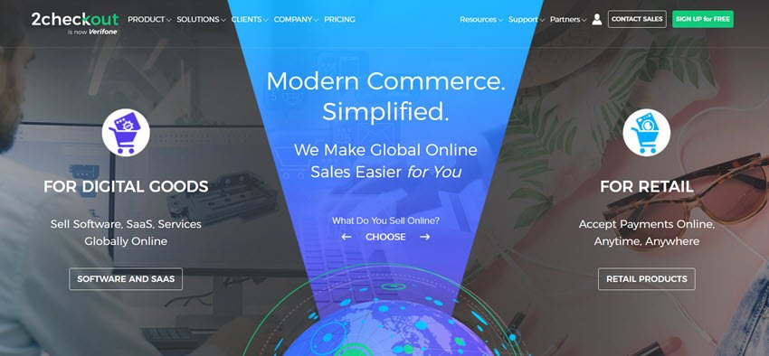 2checkout Modern Commerce Simplified all in one monetization platform