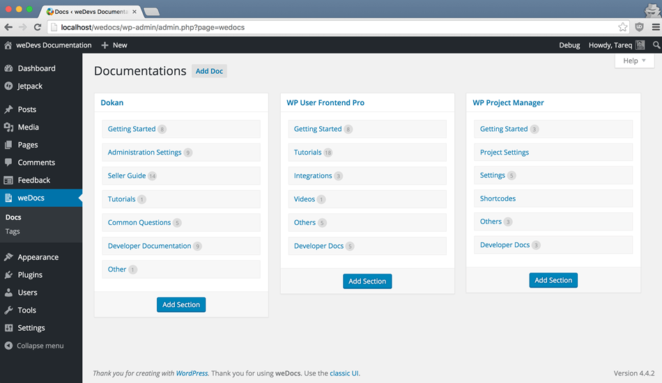 Add Documentation & Knowledge Base Plugin Setting