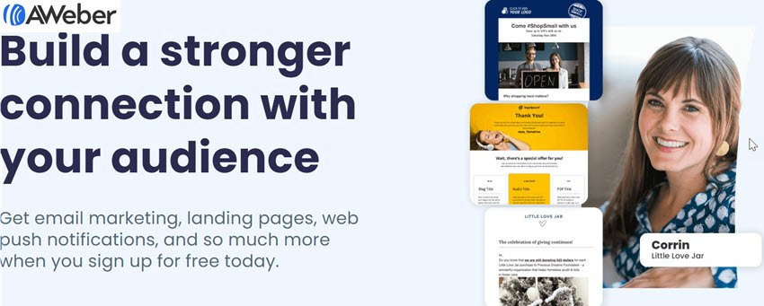 Aweber Build a stronger connection with your audience