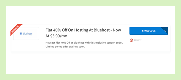 Bluehost 40% Off Coupon On Hosting