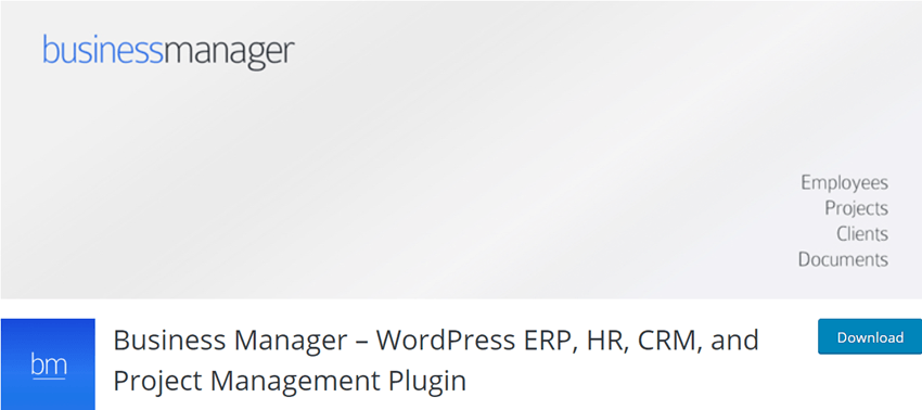 Business Manager – WordPress ERP, HR, CRM, and Project Management Plugin