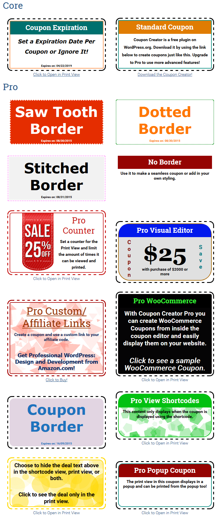 Different Type's Of Coupon And Pop-Up Screenshot