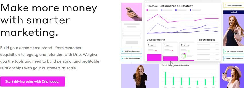 Drip Make more money with smarter marketing