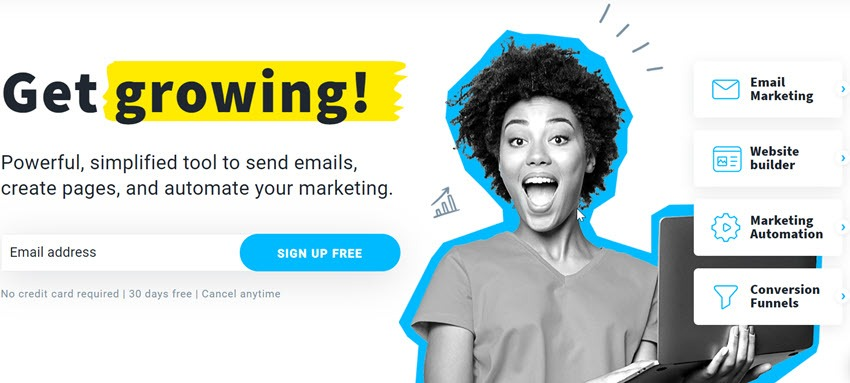 GetResponse Trusted Powerful, simplified tool to send emails
