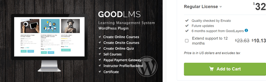 Good LMS - Learning Management System WP Plugin