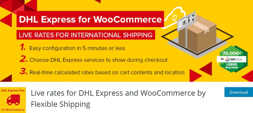 Live rates for DHL Express and WooCommerce by Flexible Shipping